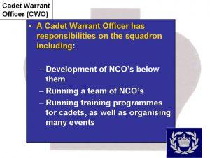 Cadet Warrant Officer